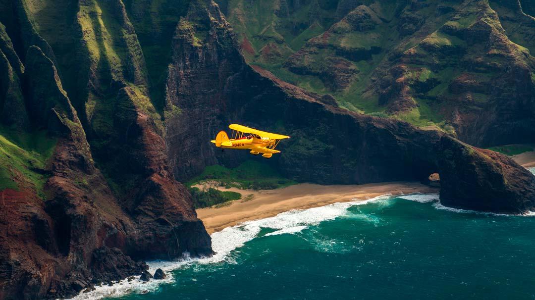 Kauai Air Tour by Open Cockpit Biplane!